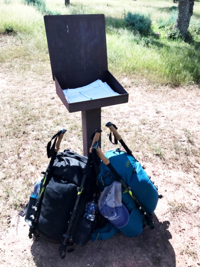 packs at trail register